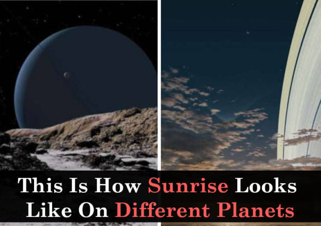 sunrise on different planets