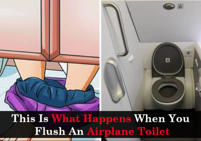 This Is What Happens When You Flush An Airplane Toilet