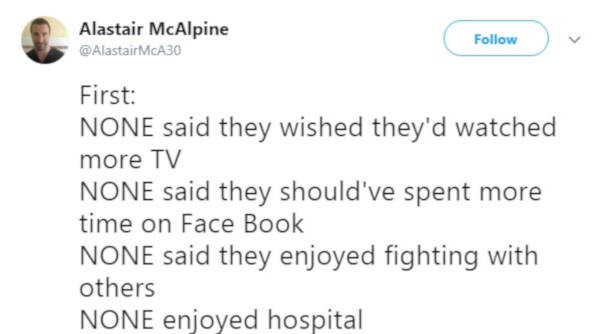 1. None of his patients cared about spending any time on their devices.