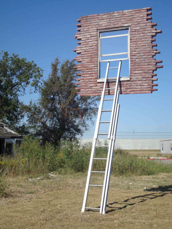 13. Window With Ladder - Too Late For Help By Leandro Erlich