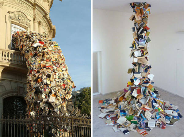 9. Book Sculptures By Alicia Martin