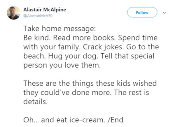 Dr. Alastair McAlpine Twitter