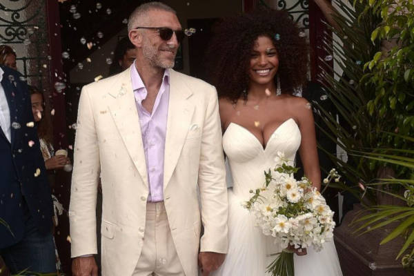 1. Vincent Cassel And Tina Kunakey