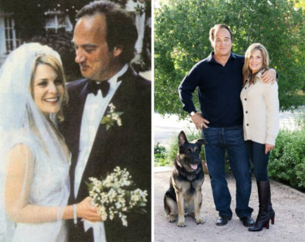 13. James Belushi and Jennifer Sloan