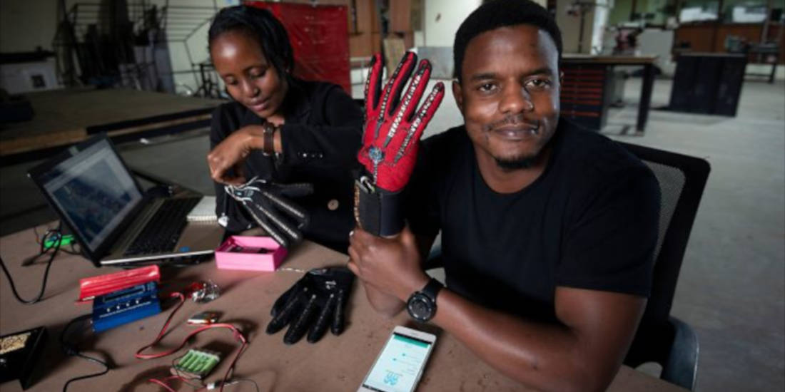 25-Year-Old Kenyan Invented Smart Gloves That Convert Sign Language Into Audio Speech