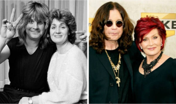 4. Ozzy Osbourne and Sharon Osbourne