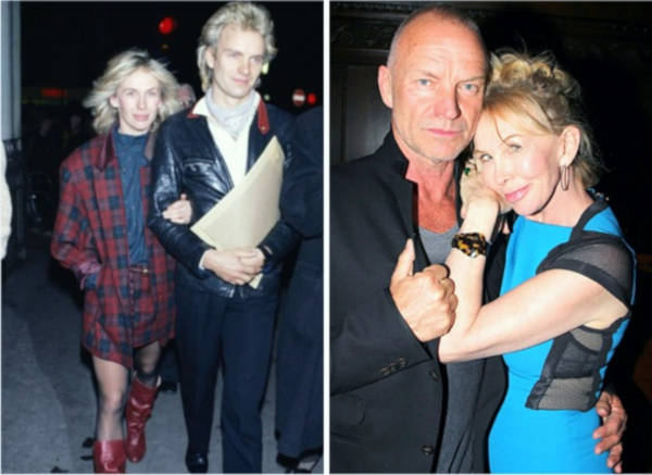 6. Sting and Trudie Styler