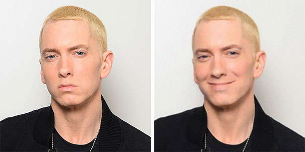 Guy Makes Eminem Smile By Editing His Photos And They Look Better Now - 2