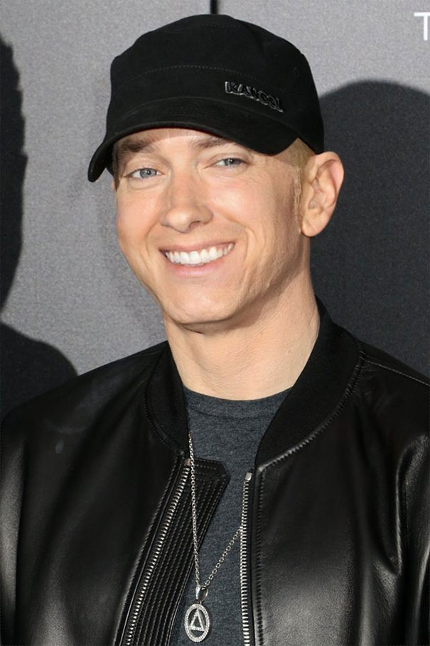Guy Makes Eminem Smile By Editing His Photos And They Look Better Now -- 4