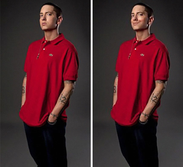 Guy Makes Eminem Smile By Editing His Photos And They Look Better Now - 9