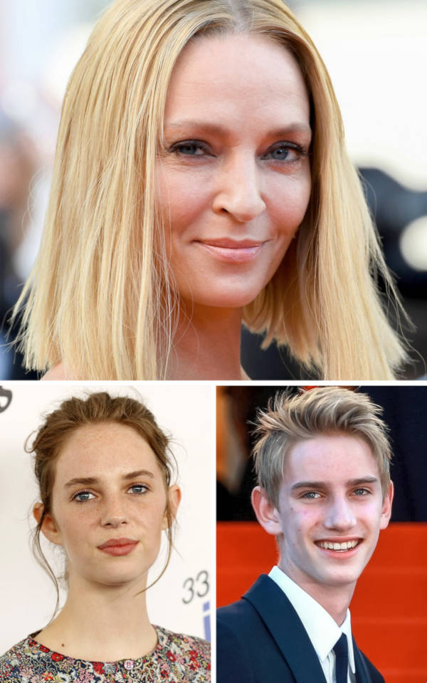 4. The son and daughter of Uma Thurman