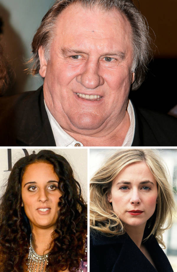 7. The daughters of Gérard Depardieu