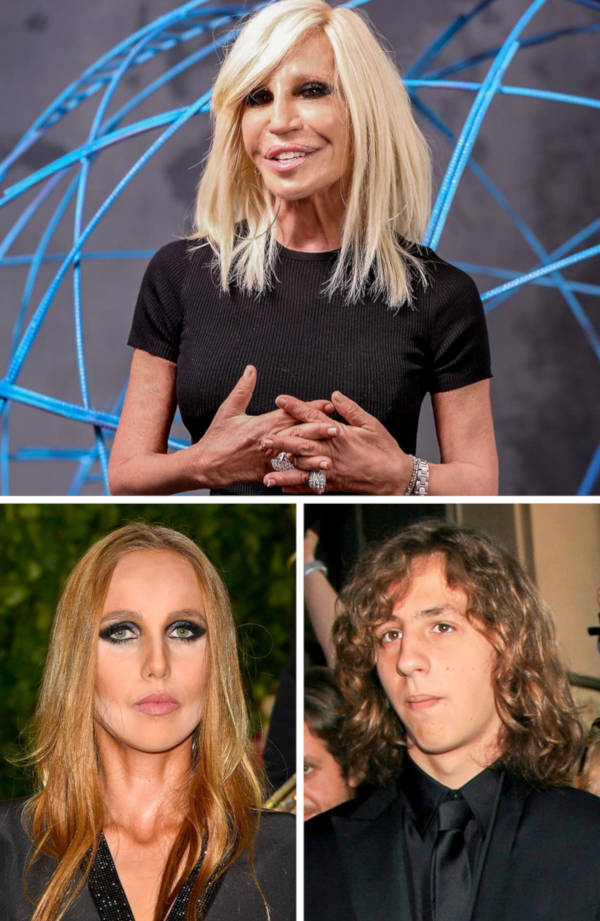 8. The daughter and son of Donatella Versace