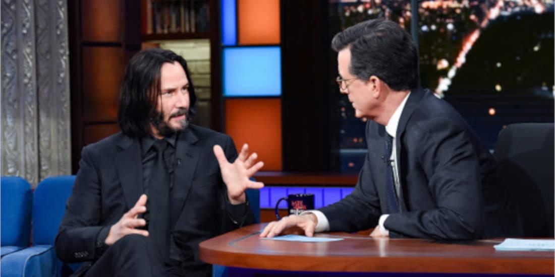 Keanu Reeves stephen colbert