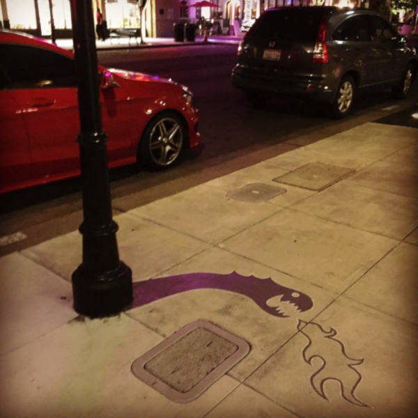 Creative Street Artist Adds Fake Shadows To Confuse People - 18