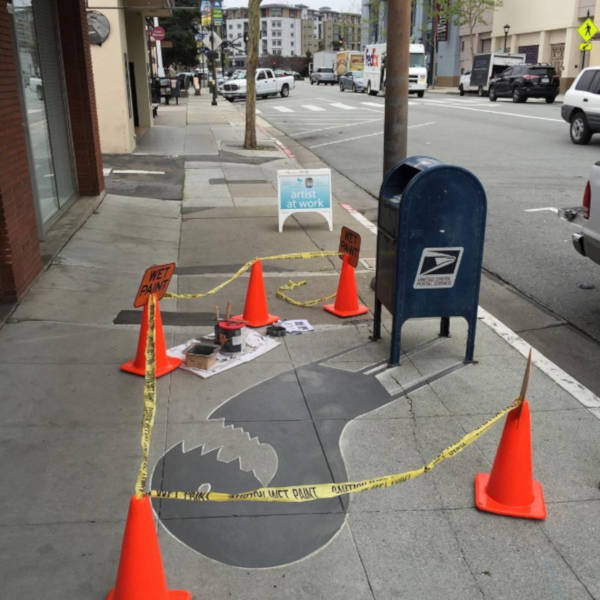 Creative Street Artist Adds Fake Shadows To Confuse People - 20