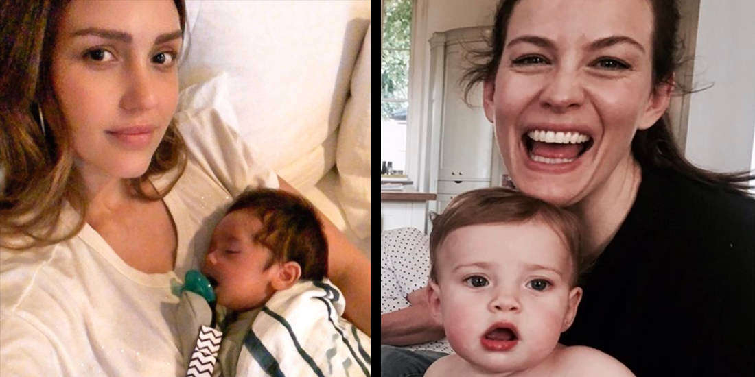 Famous Moms Who Don't Pretend to Be Perfect and Show Their Real Life