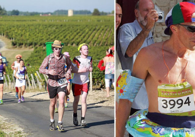 French Marathon Where Contestants Drink Wine And Eat Cheese