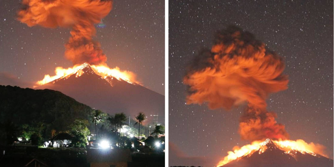 Incredible Images Are Captured From An Explosive Volcanic Eruption In Bali