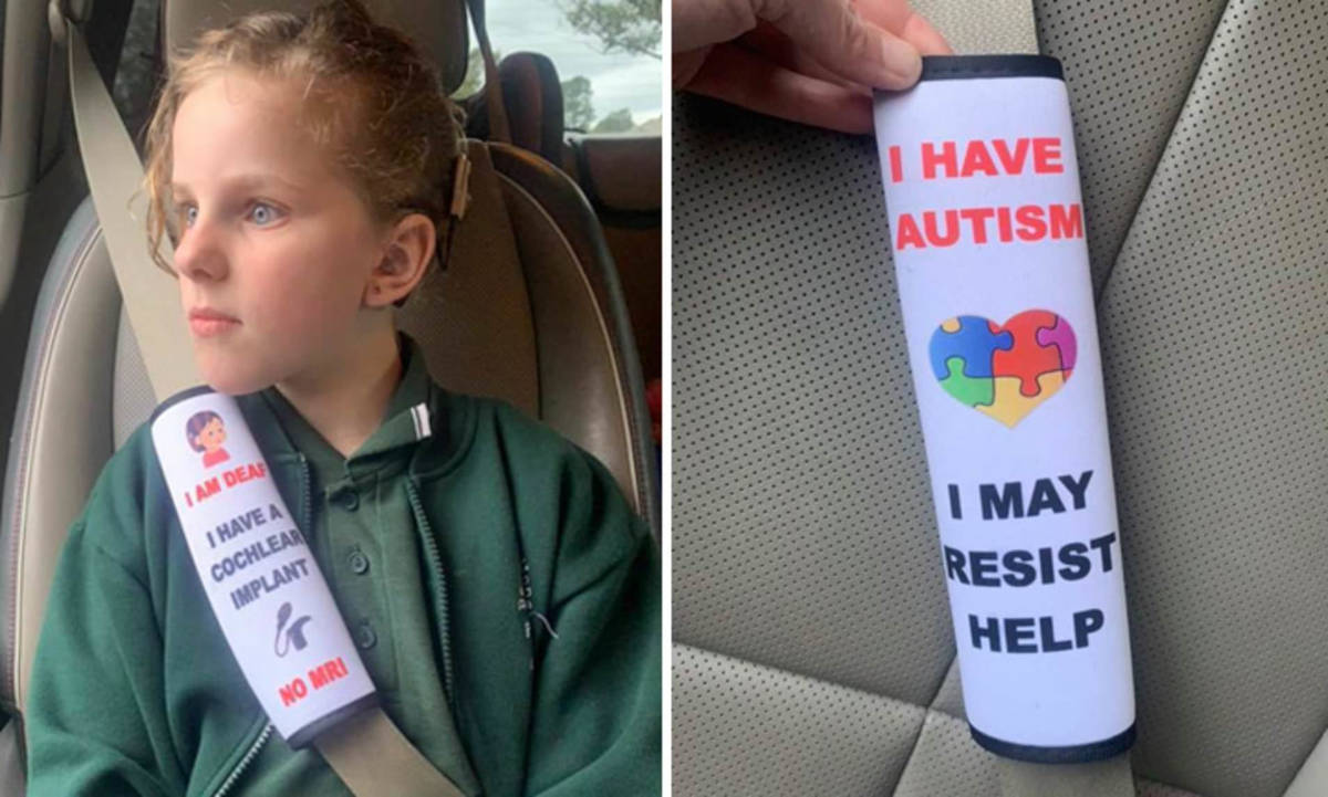 Mother Goes Viral for Creating Seat Belts to Alert Emergency Services