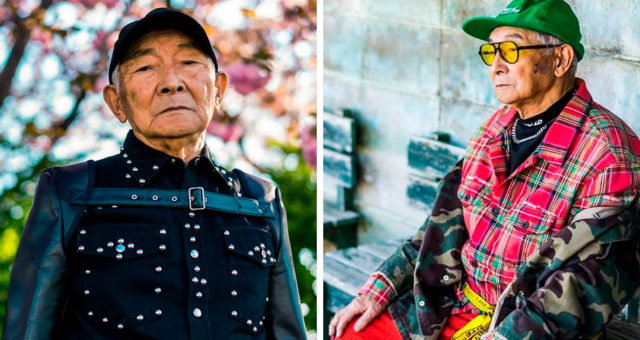 Grandson Dress 84-Year-Old Japanese Grandpa And Now He's An Instagram Model