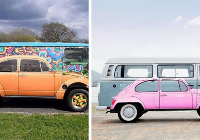 Pictures Of Gorgeous VW Beetle Art Paintings Painted On VW Minibus