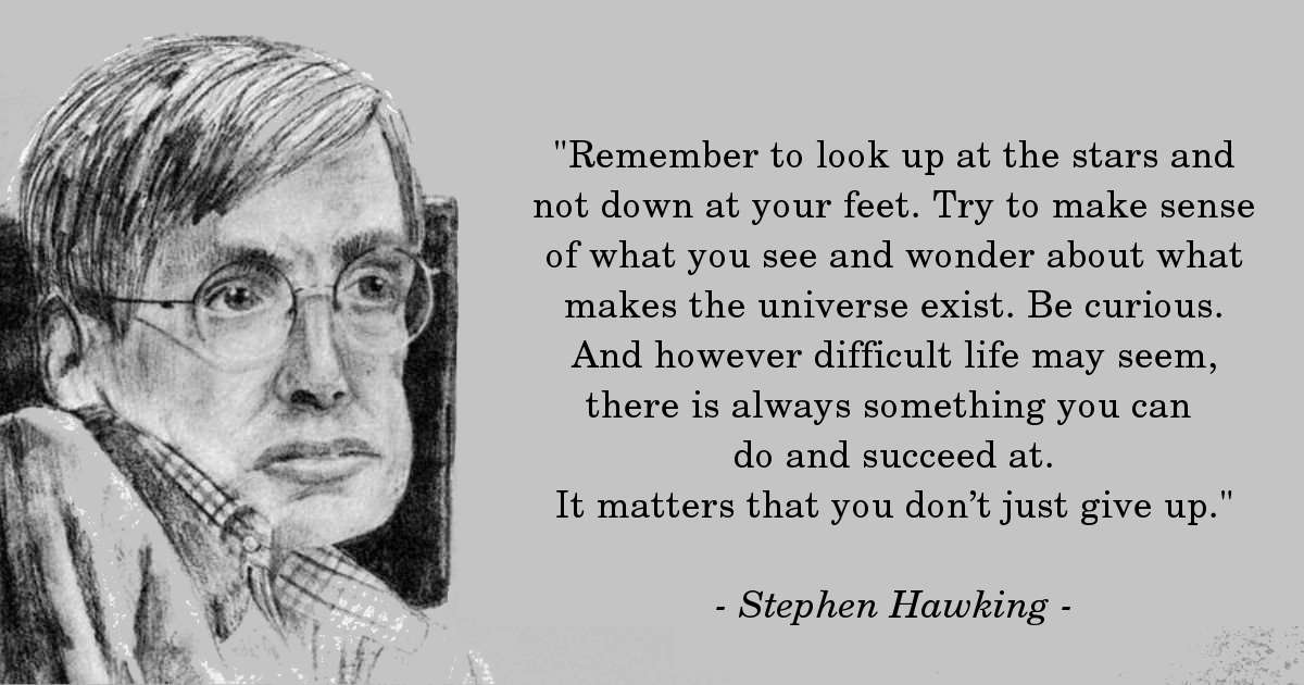 Stephen Hawking's Perfect Advice For People With Depression