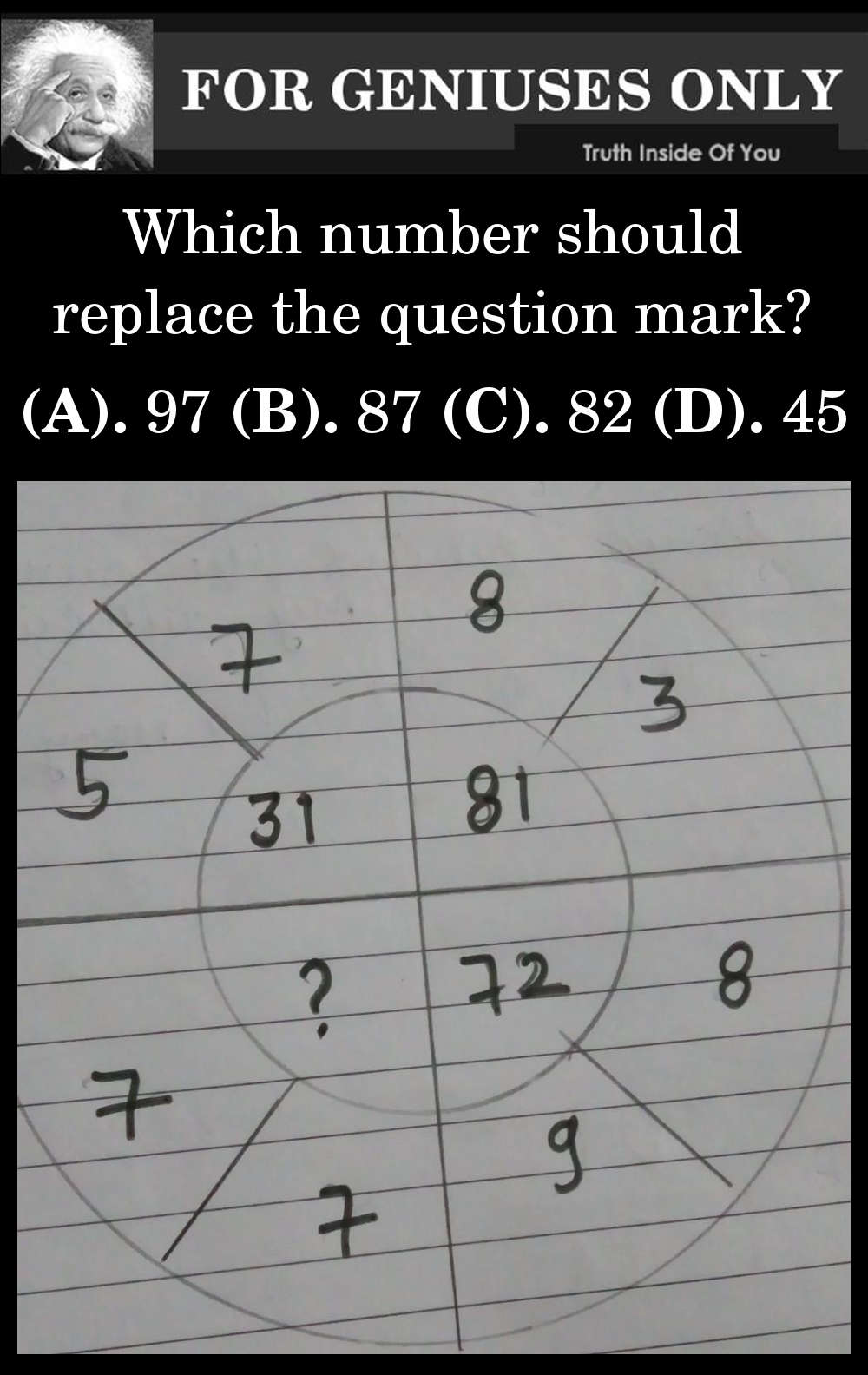 can you find the right question?
