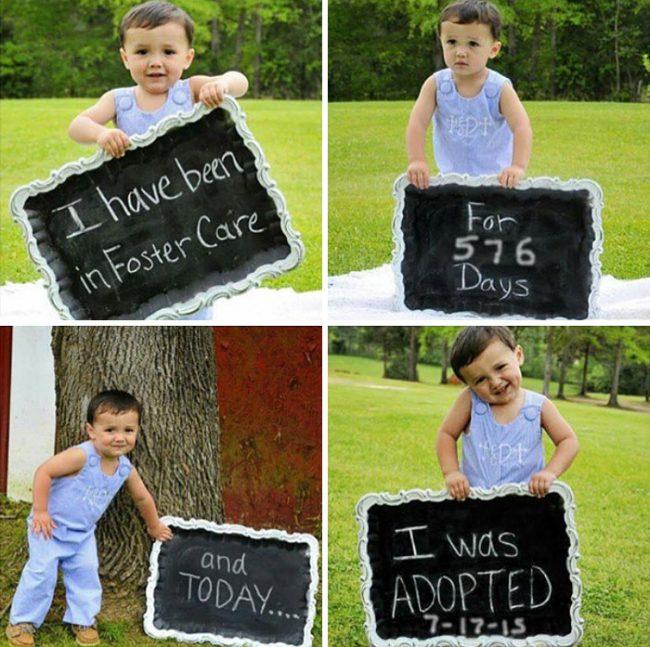 Heartwarming Pictures Of Children Who Were Just Adopted
