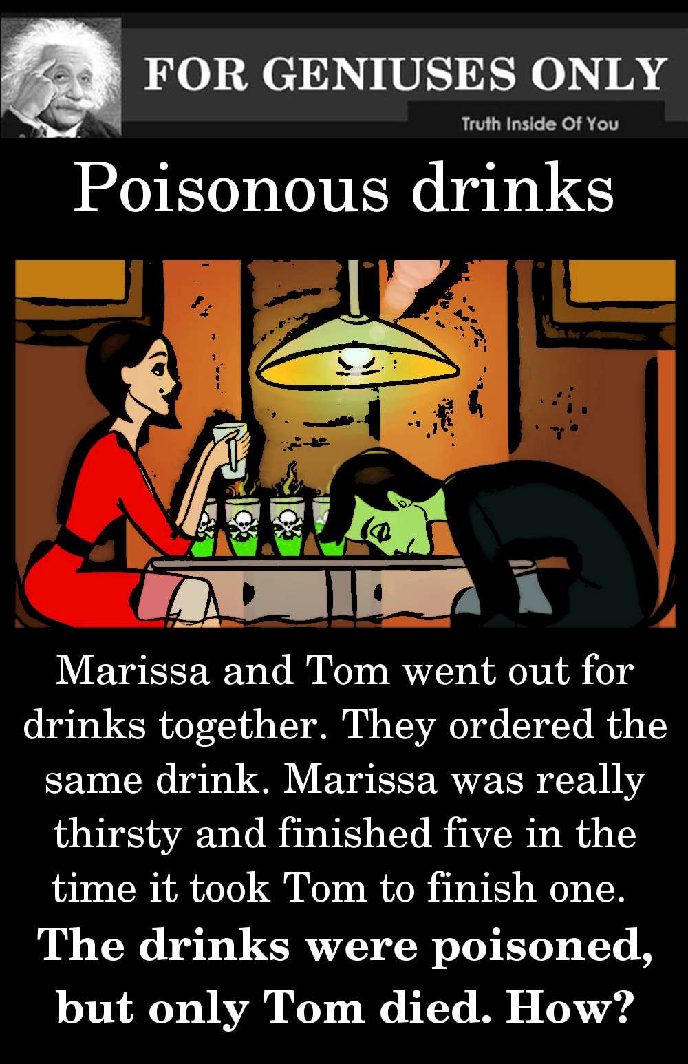 riddle Poisonous drinks