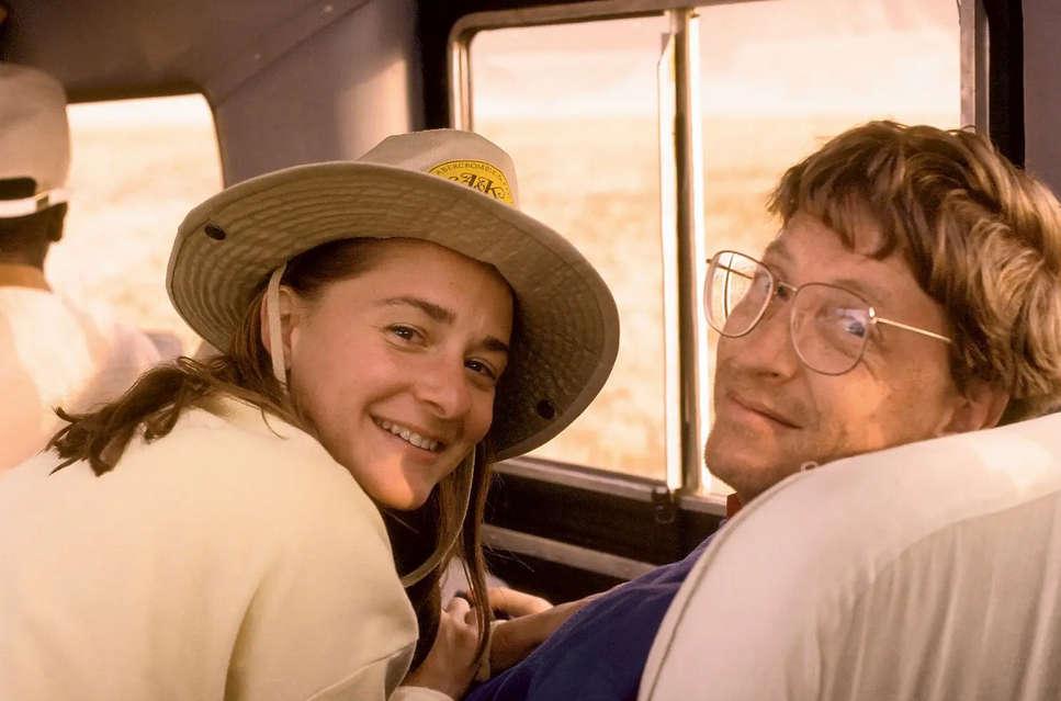 Bill and Melinda Gates young