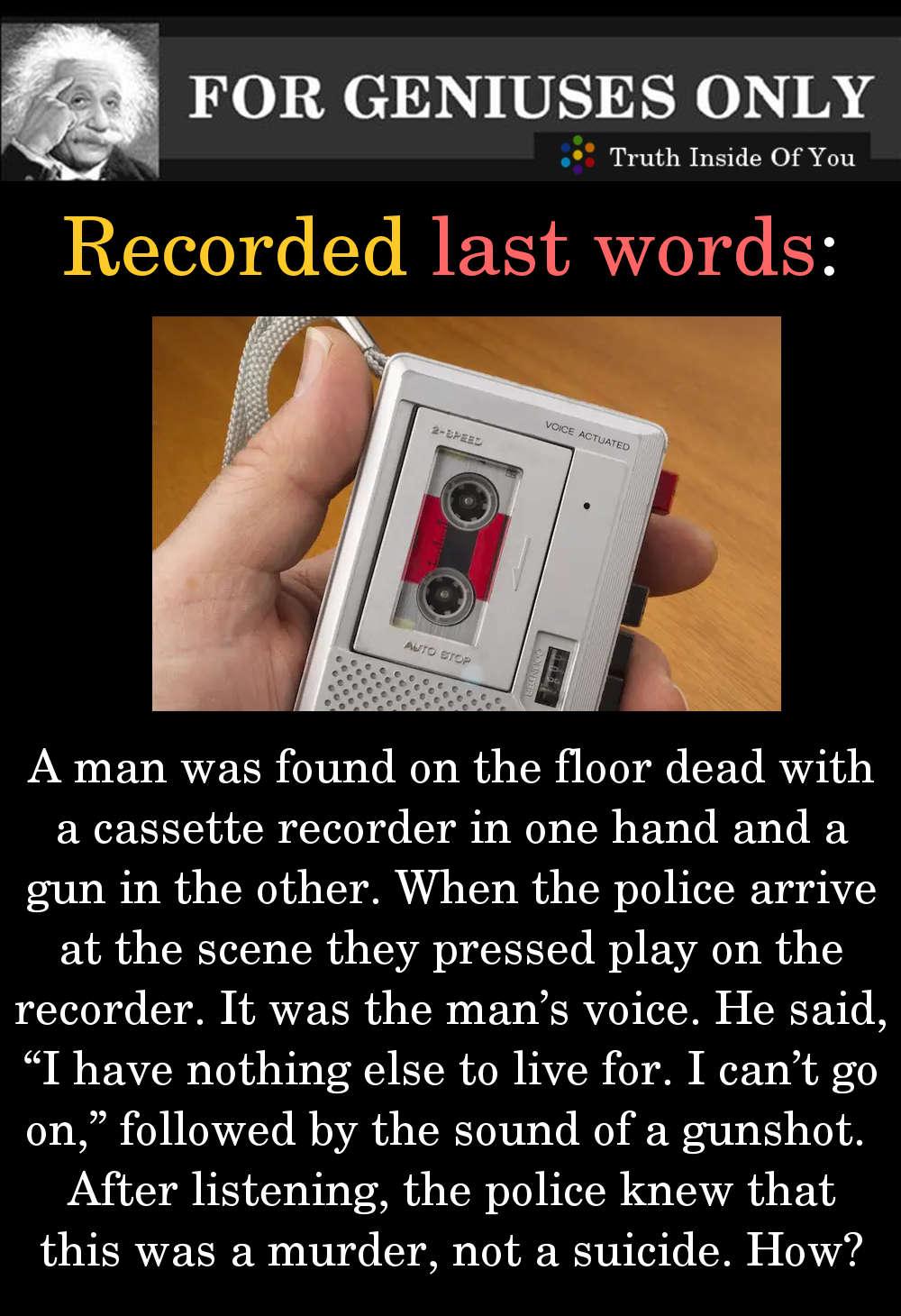 recorded last words