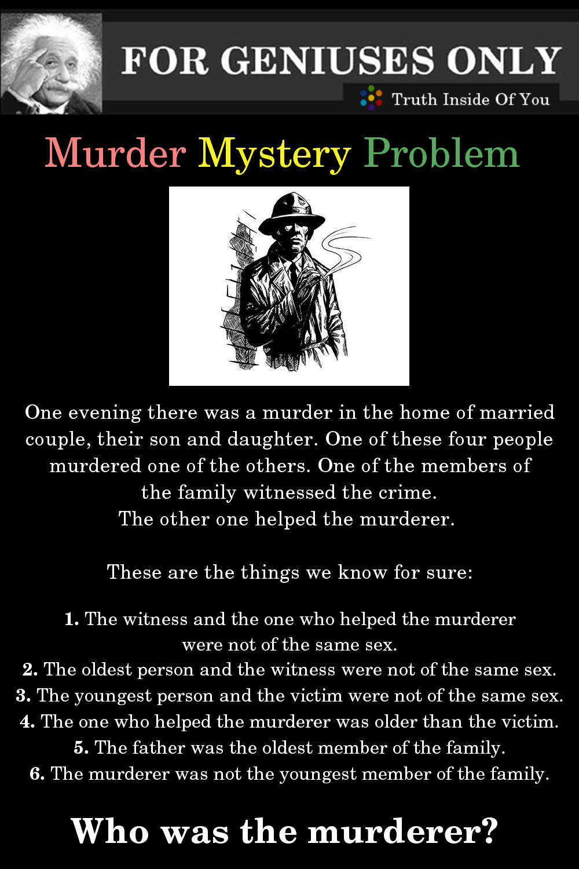 Murder Mystery Problem