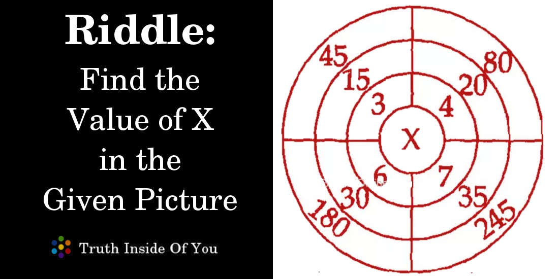Riddle: Find the Value of X in the Given Picture featured
