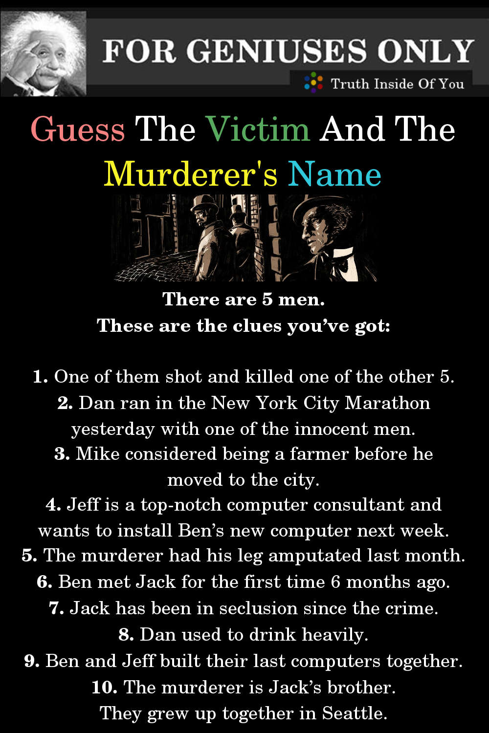 Riddle: Guess The Victim And The Murderer's Name