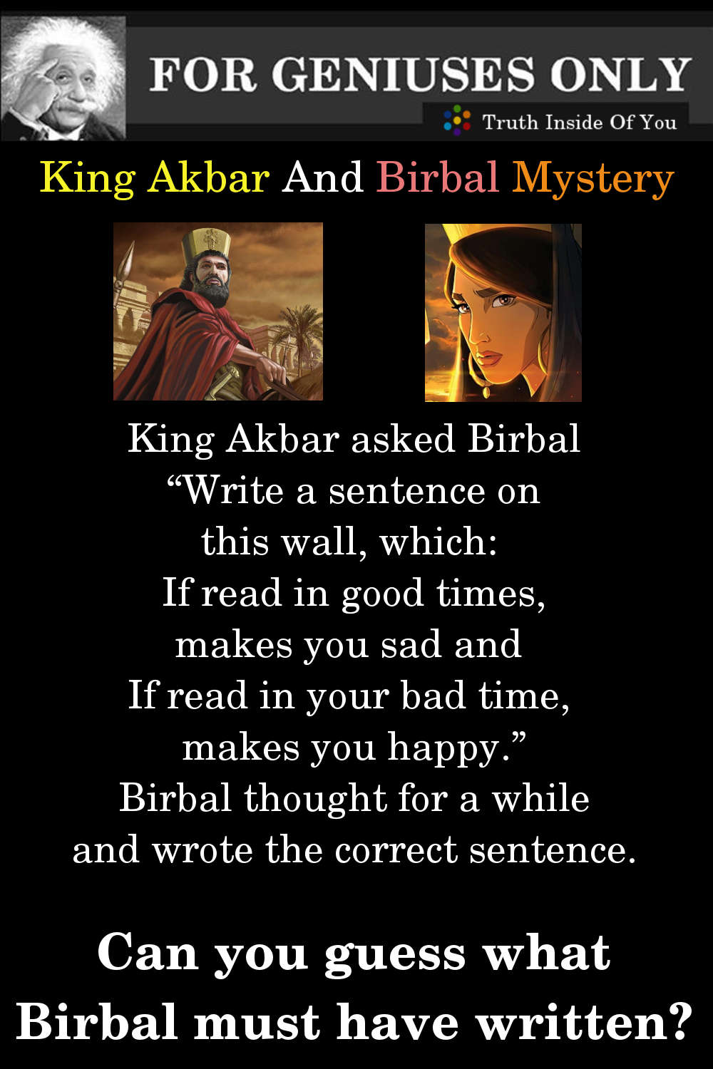 Riddle: King Akbar And Birbal